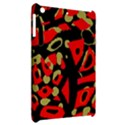 Red artistic design Apple iPad Mini Hardshell Case View2