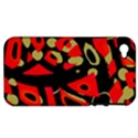 Red artistic design Apple iPhone 4/4S Hardshell Case (PC+Silicone) View1