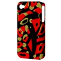 Red artistic design Apple iPhone 4/4S Hardshell Case (PC+Silicone) View3