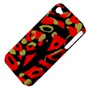 Red artistic design Apple iPhone 4/4S Hardshell Case (PC+Silicone) View4