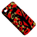 Red artistic design Apple iPhone 4/4S Hardshell Case (PC+Silicone) View5