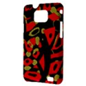 Red artistic design Samsung Galaxy S II i9100 Hardshell Case (PC+Silicone) View3