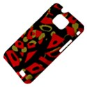 Red artistic design Samsung Galaxy S II i9100 Hardshell Case (PC+Silicone) View4