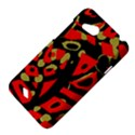 Red artistic design HTC Desire VC (T328D) Hardshell Case View4