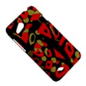 Red artistic design HTC Desire VC (T328D) Hardshell Case View5