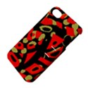 Red artistic design Apple iPhone 4/4S Hardshell Case with Stand View4