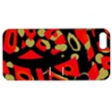 Red artistic design Apple iPhone 5 Hardshell Case with Stand View1