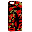 Red artistic design Apple iPhone 5 Hardshell Case with Stand View2