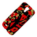 Red artistic design Samsung Galaxy S4 I9500/I9505 Hardshell Case View4
