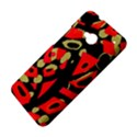 Red artistic design HTC One M7 Hardshell Case View4