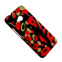 Red artistic design HTC One M7 Hardshell Case View5
