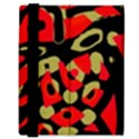 Red artistic design Samsung Galaxy Tab 8.9  P7300 Flip Case View3