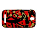 Red artistic design HTC One SV Hardshell Case View1
