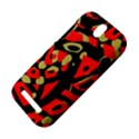 Red artistic design HTC One SV Hardshell Case View4