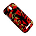 Red artistic design HTC One SV Hardshell Case View5