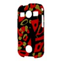 Red artistic design Samsung Galaxy S7710 Xcover 2 Hardshell Case View3