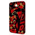 Red artistic design Samsung Galaxy Tab 3 (7 ) P3200 Hardshell Case  View3