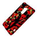 Red artistic design HTC One Max (T6) Hardshell Case View4