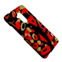 Red artistic design HTC One Max (T6) Hardshell Case View5
