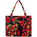 Red artistic design Mini Tote Bag View1