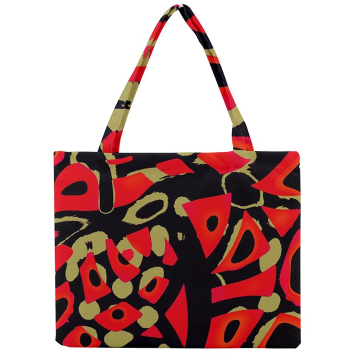 Red artistic design Mini Tote Bag