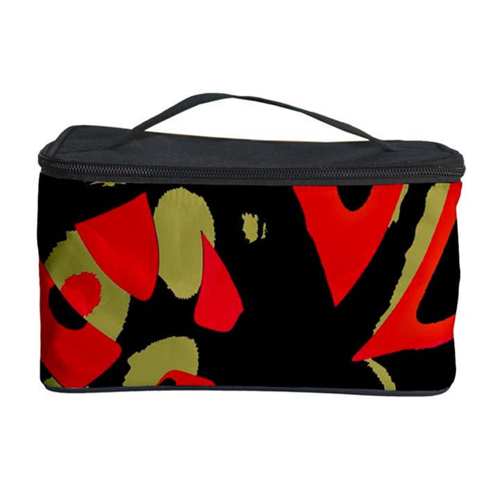 Red artistic design Cosmetic Storage Case