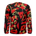 Red artistic design Men s Long Sleeve Tee View2