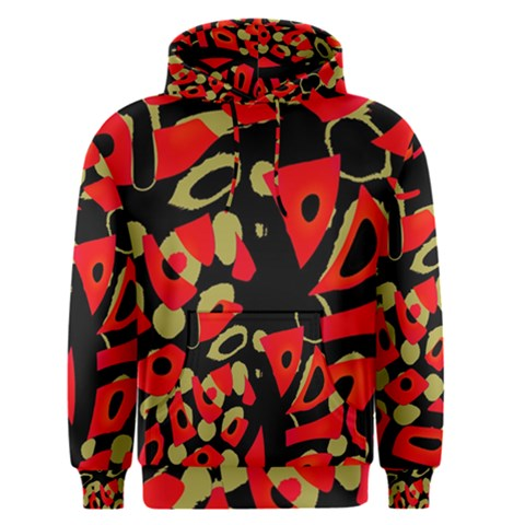 Red artistic design Men s Pullover Hoodie