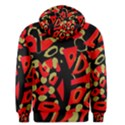 Red artistic design Men s Pullover Hoodie View2