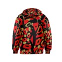 Red artistic design Kids  Pullover Hoodie View2