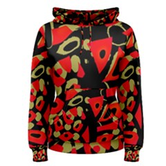 Red artistic design Women s Pullover Hoodie