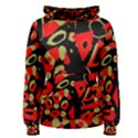 Red artistic design Women s Pullover Hoodie View1