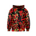 Red artistic design Kids  Zipper Hoodie View1