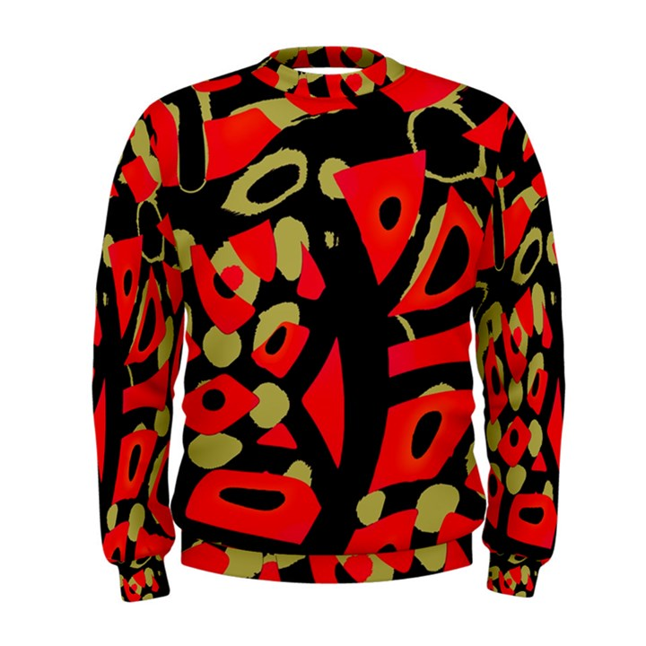 Red artistic design Men s Sweatshirt