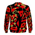 Red artistic design Men s Sweatshirt View2