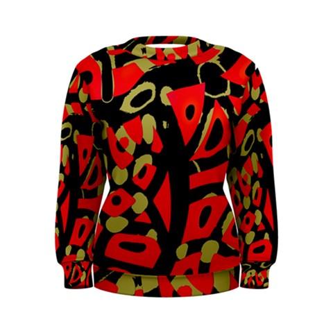 Red artistic design Women s Sweatshirt