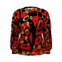 Red artistic design Women s Sweatshirt