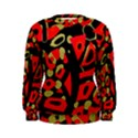 Red artistic design Women s Sweatshirt View1