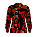 Red artistic design Women s Sweatshirt View2