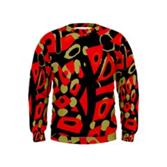 Red artistic design Kids  Sweatshirt