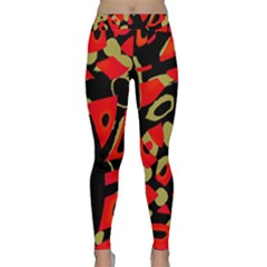 Red artistic design Yoga Leggings
