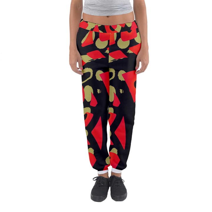 Red artistic design Women s Jogger Sweatpants