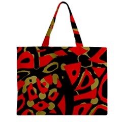 Red artistic design Zipper Mini Tote Bag