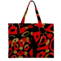 Red artistic design Zipper Mini Tote Bag View2
