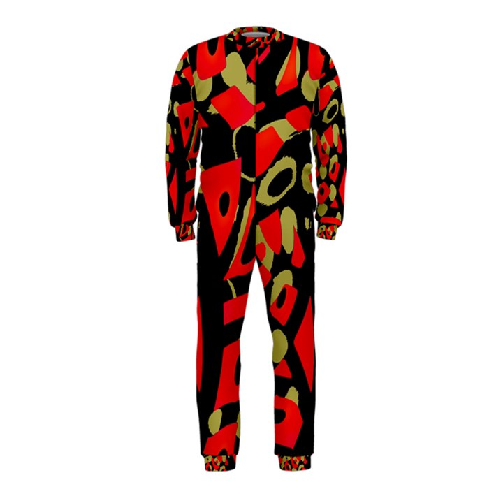 Red artistic design OnePiece Jumpsuit (Kids)