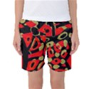 Red artistic design Women s Basketball Shorts View1