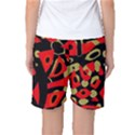 Red artistic design Women s Basketball Shorts View2