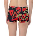 Red artistic design Boyleg Bikini Bottoms View2