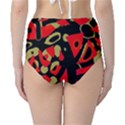 Red artistic design High-Waist Bikini Bottoms View2