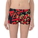 Red artistic design Reversible Boyleg Bikini Bottoms View1